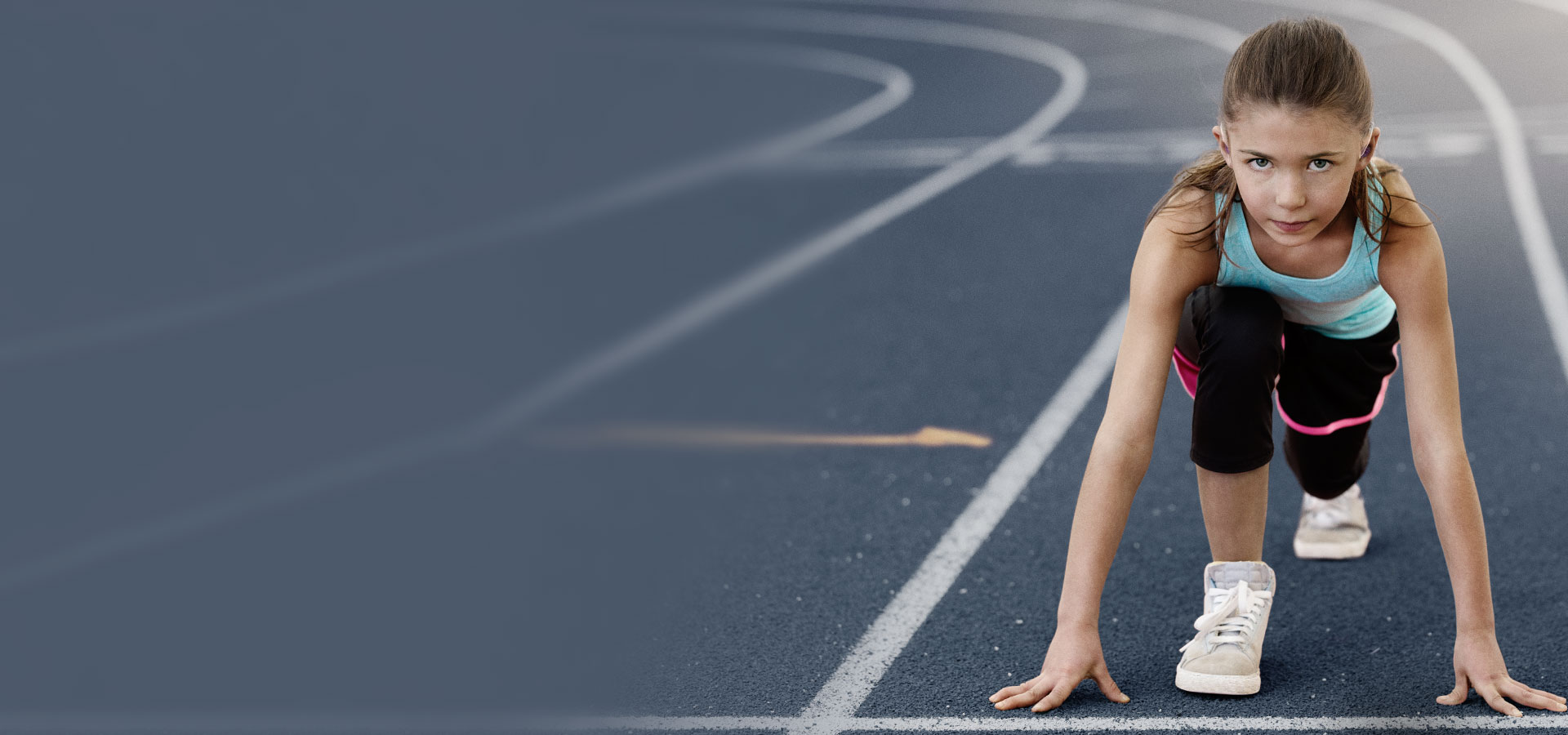 girl on a track