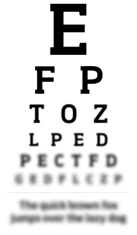 test visual impairment